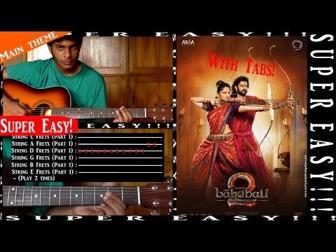 BAAHUBALI 2 (The Conclusion) [Instrumental] - Guitar TUTORIAL (with Tabs) - [Super easy!!!]