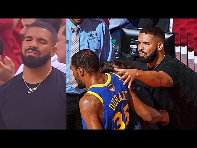 Drake Emotional After Kevin Durant Injury In Game 5!