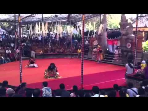 Balinese Traditional Theater during Bali Arts Festival 2014