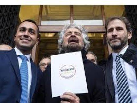 """Beppe Grillo insiste: """"Serve un reddito universale"""" Ma la sua disillusione e' forte """"solo poltrone"""""""