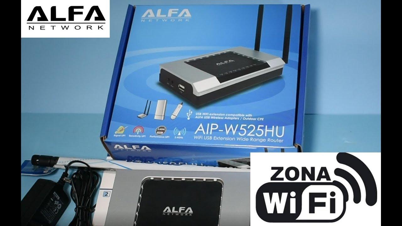 🥇 Router WiFi Alfa AIP-W525HU con USB 2 antenas SMA y POE IN / POE OUT WAN  y LAN