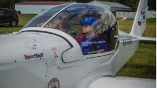 ✈️ Девушка ПИЛОТ 👩✈️ Полет на ЯК-52 ✈️ Первый ПОЛЕТ ✈️ Авиа Лагерь