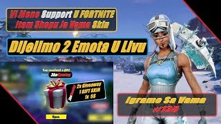 🔴 Fortnite NAJVECI GIVEAWAY 2x Emote + 2x SKIN + 1x 5$ + 3x Steam Key / Igramo Sa Vama #135