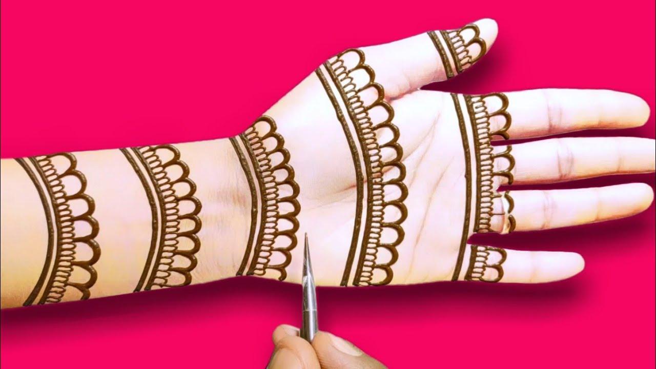 Download dulhan front hand mehndi design    bridal full hand mehndi    wedding full hand mehndi