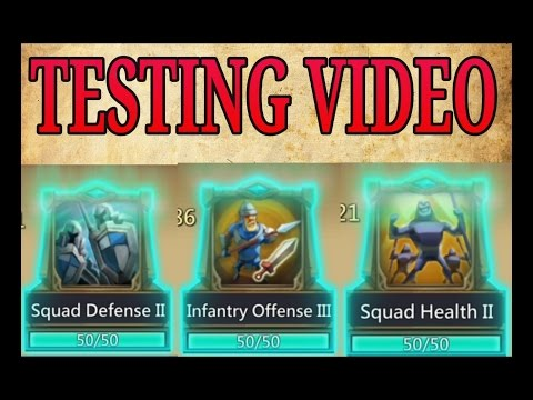Army ATK, DEF, HP Testing Video