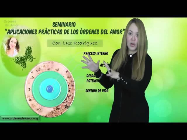 Seminario Aplicaciones Prácticas de los Ordenes del  amor con Luz Rodríguez