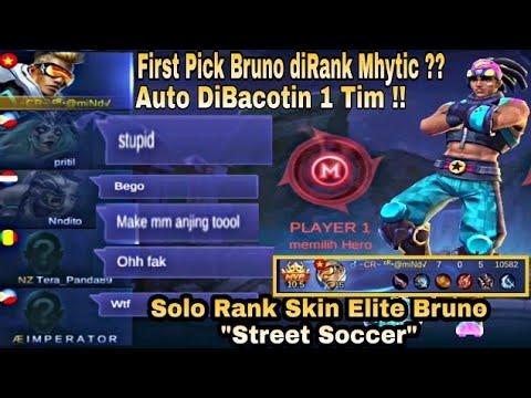 First Pick Bruno DiRank Mhytic ?? Auto Dibacotin !! Padahal Lagi Review Skin Bruno Street Soccer
