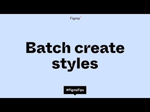 Batch create styles