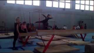 Спортивная гимнастика. Бревно - открытый урок в 2014 году