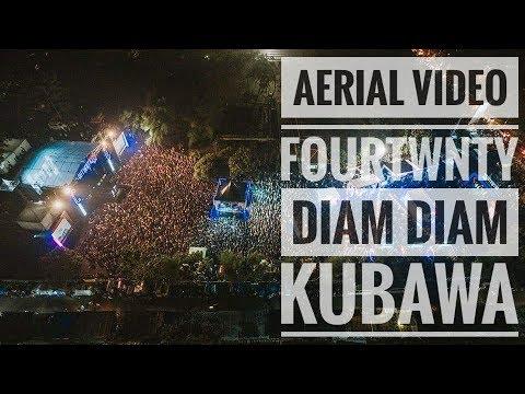 [HD - AERIAL VIDEO] FOURTWNTY - DIAM DIAM KUBAWA   Live From Authenticity Fest - Bandung 2018
