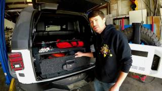 ARB Outback Drawer System in a Jeep Wrangler Unlimited (JKU)