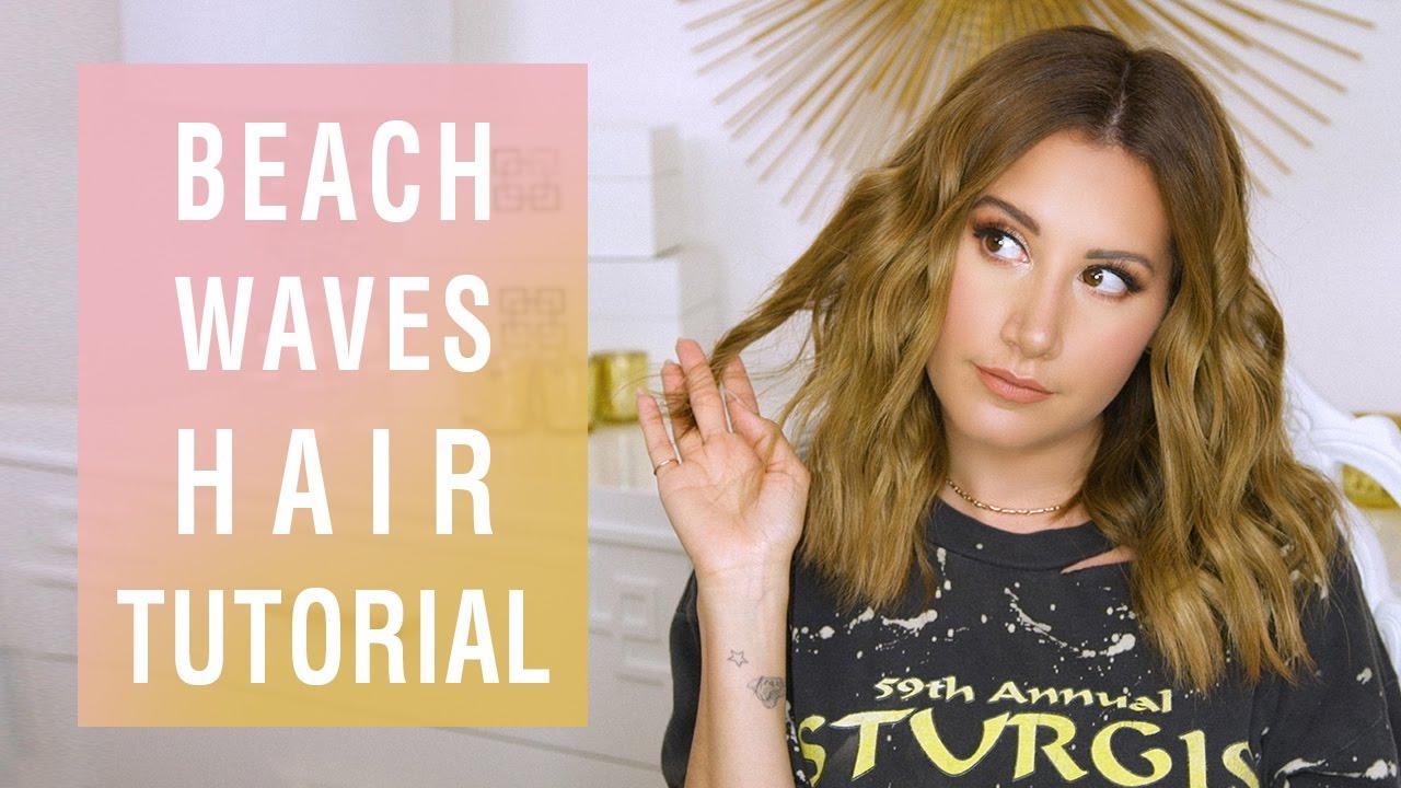 Beach Waves Hair Tutorial | Ashley Tisdale - YouTube