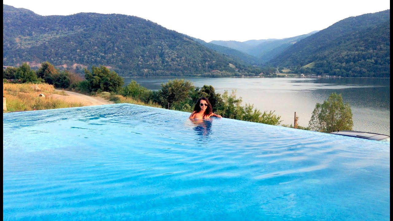 UNDERWATER SWIMMING IN PARADISE DANUBE BOILERS INFINITY SWIMMING POOL