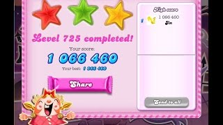 Candy Crush Saga Level 725   ★★★   NO BOOSTER