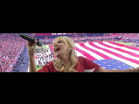 Kristin Chenoweth: National Anthem  AZ Cardinals vs NE Patriots, 91116