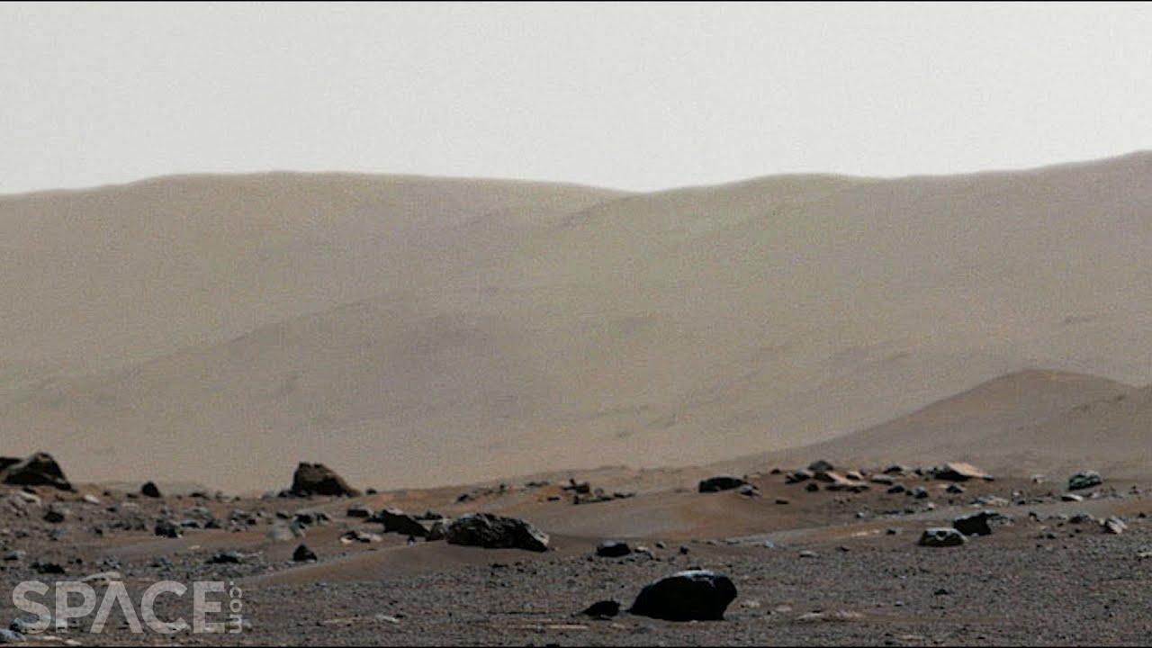 Download Perseverance sees Jezero Crater rim in 360° Mars panorama