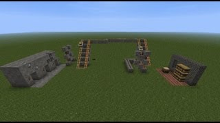 Minecraft Tutorial: Chest Cart Item Transport System