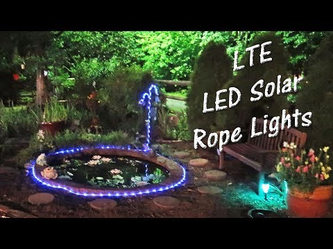💥 LTE 100 LED SOLAR ROPE LIGHTS 🌞Lighting Even 33 FT Product Review 👈
