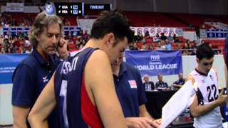 US Men vs France - FIVB World League on 6-15-13