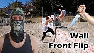 """Как научиться """"Переднее сальто от стены за одну тренировку"""" (Wall Front Flip Tutorial)"""