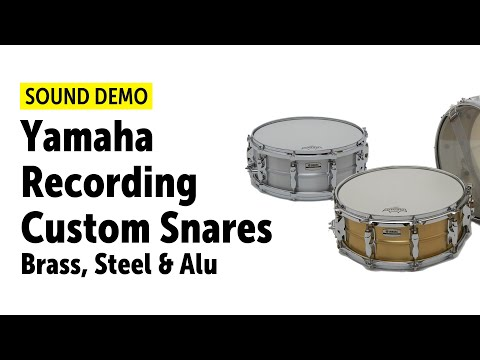 Yamaha Recording Custom Snares Brass, Steel & Alu Sound Demo