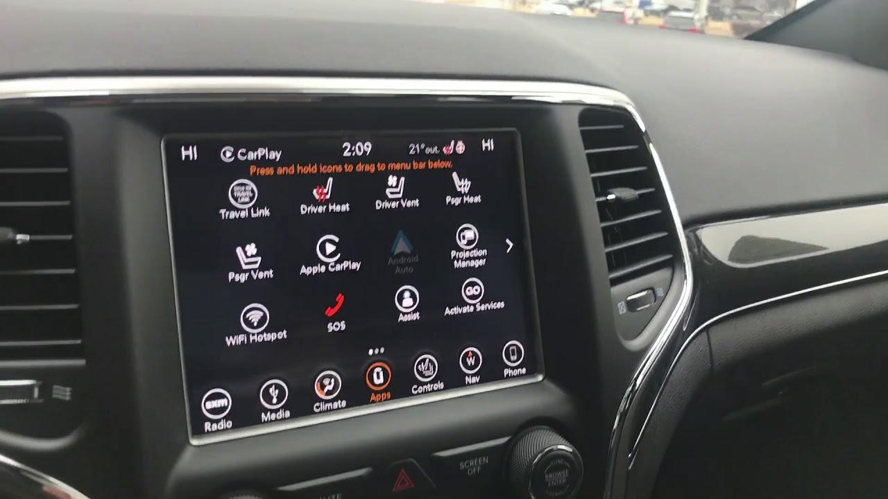 2018 Apple Carplay Jeep Grand Cherokee Marcus Harbin Youtube
