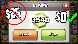Collecting 3,540 FREE Gems in Clash of Clans!