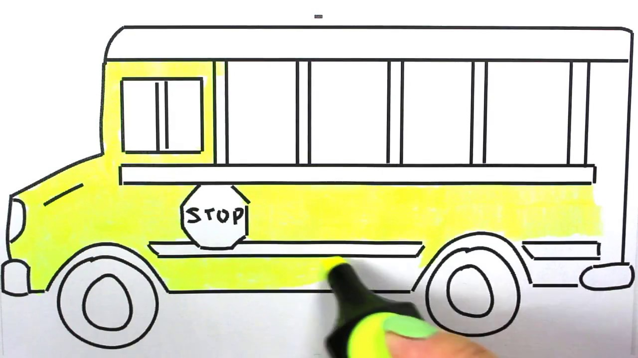 school bus how to draw school bus  school bus coloring images