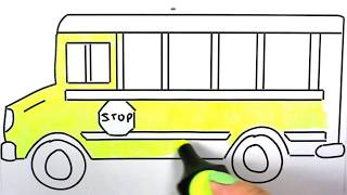 school bus: how to draw school bus | school bus coloring images