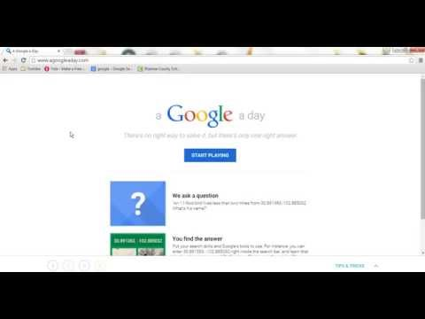 Intro to A Google A Day