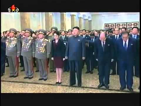 Kim Jong Un visits Kumsusan Palace   sacred temple of Juche on January 1st Juche 103 2014