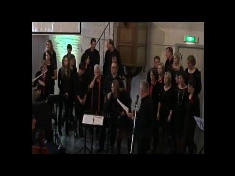 Kerstconcert gospelkoor Inspiration in kerk Open Haven Oost-Souburg