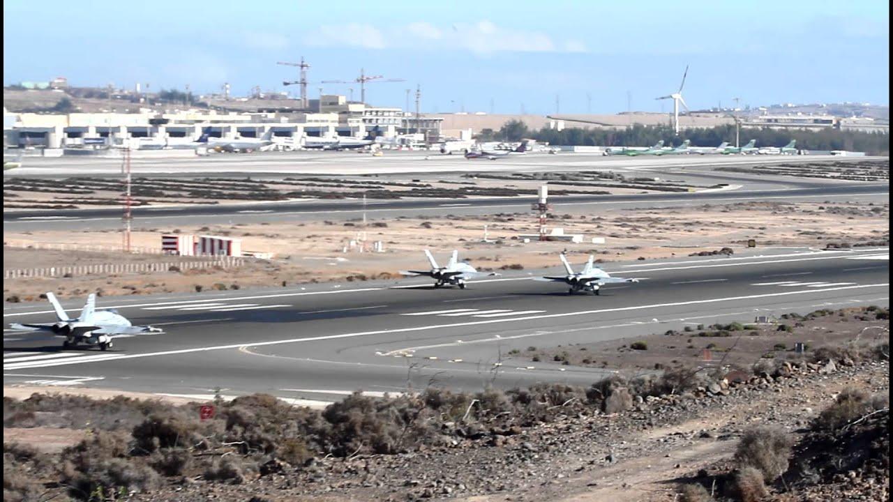 Aeroporto Gran Canaria : F spain air force takeoff at gran canaria las palmas