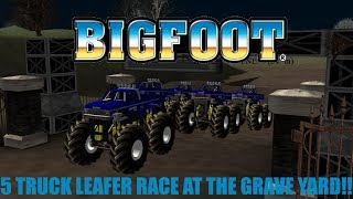 Rigs Of Rods Monster Jam Monster Truck Bigfoot 5 Leafers Race At The Graveyard!!