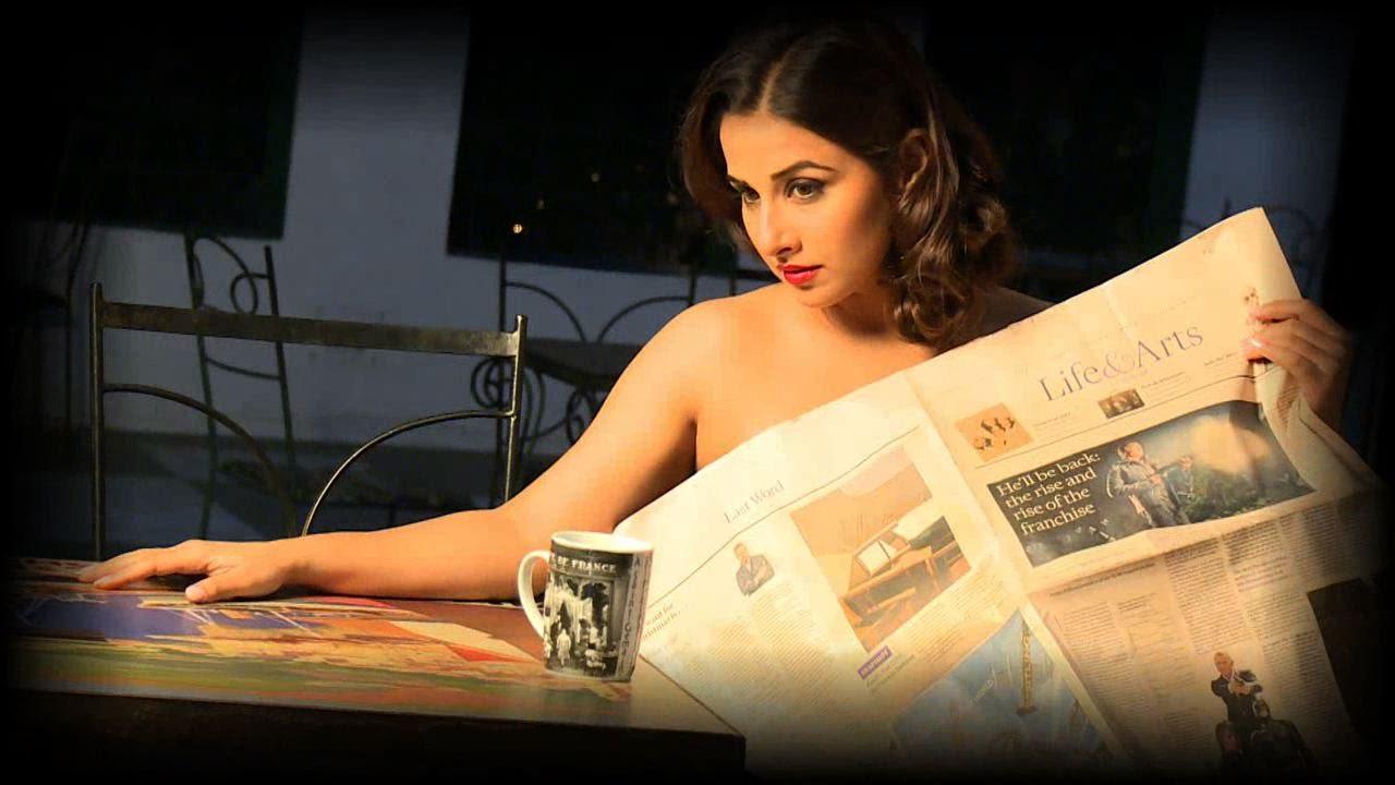 vidya balan drops clothes for photo-shoot - youtube