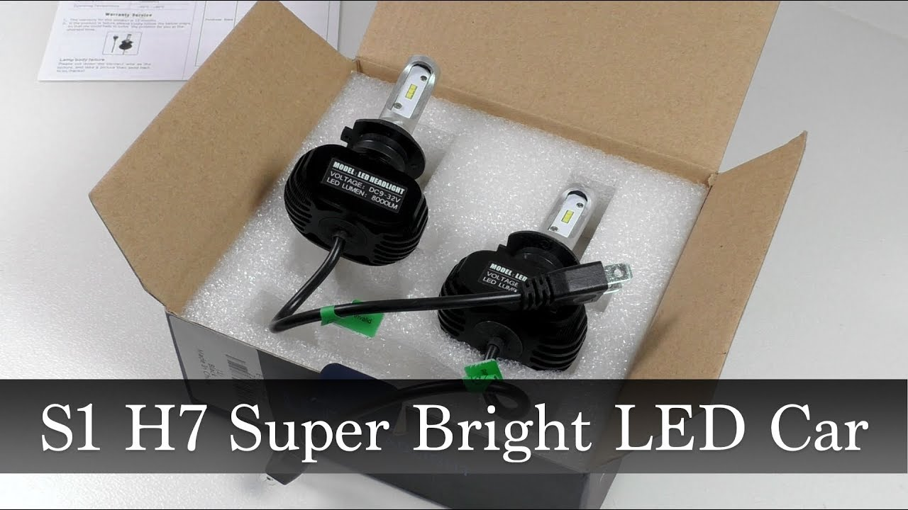 Светодиодные лампы ближнего света S1 H7 <b>Super Bright</b> LED ...