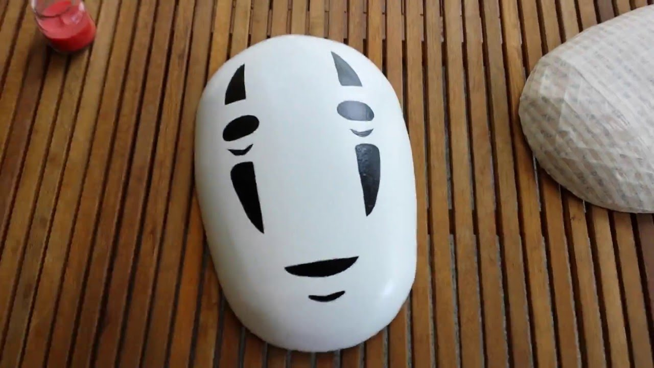 No Face From Spirited Away My Completed Ultimate Paper Mache Clay Project Youtube