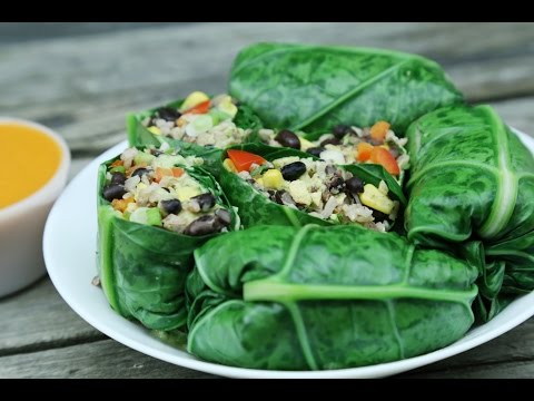Easy Vegan Collard Wraps