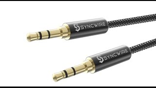 Syncwire 3 5mm Soft Nylon Braided AUX Cable