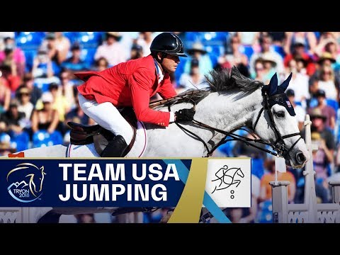 USA&39;s Gold Ride in Team Jumping  FEI World Equestrian Games 2018