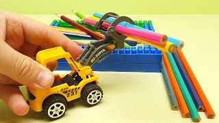 Tractor for Kids Video Yellow Tractor Works Funny Toys Video for Kids