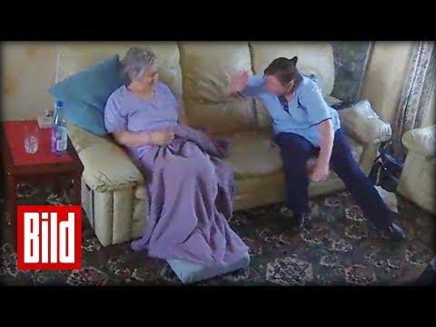 Pflegerin schlägt demente Frau  – Versteckte Kamera filmt Missbrauch