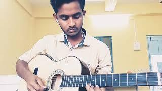 Ami sudhu cheyechi tomay and Kabhi jo badal barse guitar tabs play on single string