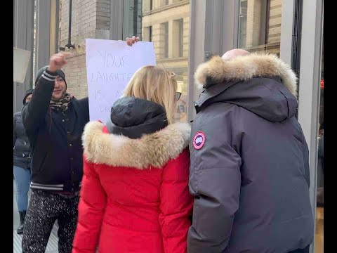 Animal Rights Activists Protest Canada Goose's Flagship Store In NYC