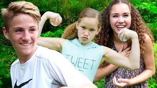 WATER BALLOON FIGHT!!! (MattyBRaps, Haschak Sisters, Justin & Josh!)