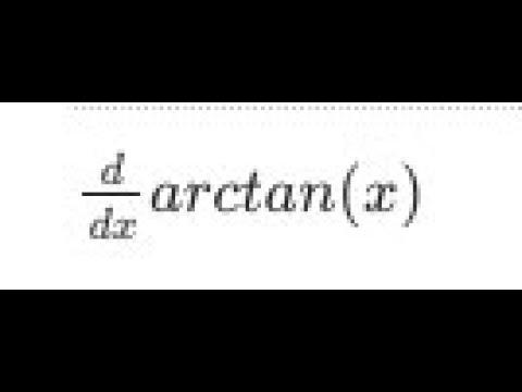 Derivative Of Arctan(x)