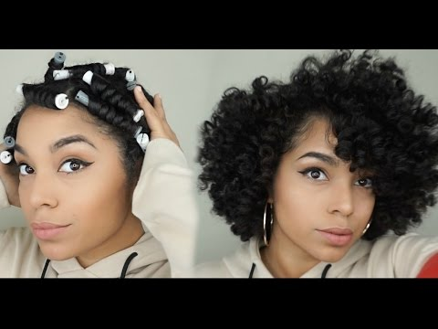 How To Cheat A Bantu Knot Out Using Perm Rods Youtube