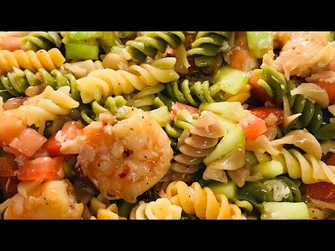 zesty-italian-veggie-pasta-with-shrimp-and-smoked-turkey