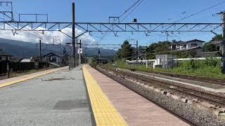 【中央本線】485系華快速お座敷やまなし満喫号の回送電車小淵沢通過