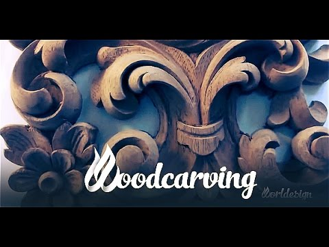 Woodcarving Baroque Element ►► Timelapse Урок Резьба по дере